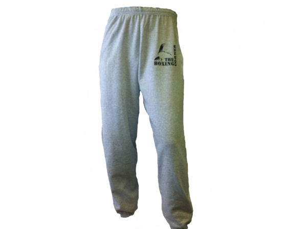 Boxing Corner Tracksuit Jogging Bottoms - Gym Casual - Grey