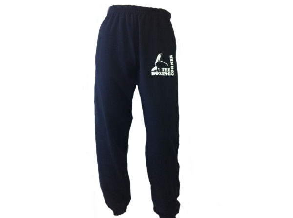 Boxing Corner Tracksuit Jogging Bottoms - Gym Casual - Black