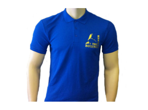 Boxing Corner Casual Training Gym Polo T Shirt Top - Royal Blue