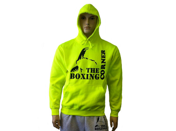 Boxing Corner Hooded Top - Gym & Casual Hoody - Flu Yellow