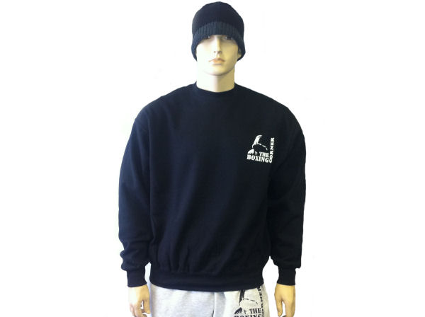 Boxing Corner Sweatshirt Top - Gym & Casual Jumper - Black