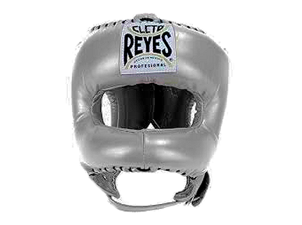 Cleto Reyes Pro Head Guard Pointed Nylon Bar Met Platinum Silver