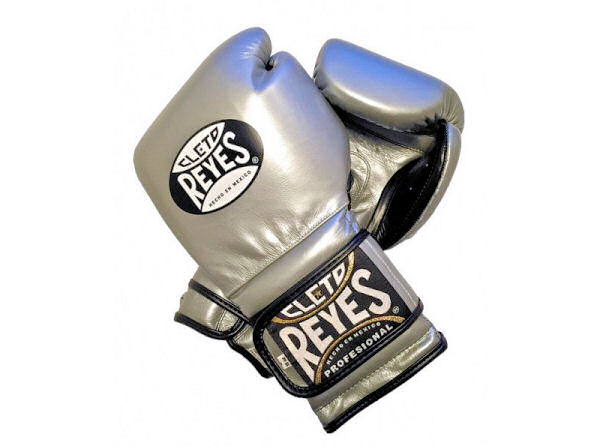 Cleto Reyes 16oz Velcro Pro Sparring Training Gloves - Platinum