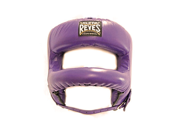 Cleto Reyes Pro Sparring Head Guard Rounded Nylon Bar Purple