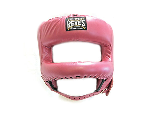 Cleto Reyes Pro Sparring Head Guard Rounded Nylon Bar Pearl Pink