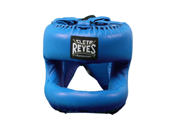 Cleto Reyes Pro Sparring Head Guard Rounded Nylon Bar Blue