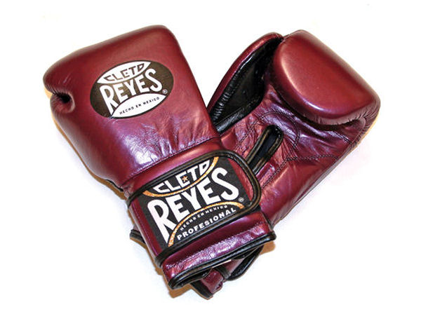 Cleto Reyes 14oz Velcro Pro Sparring Training Gloves Met Purple