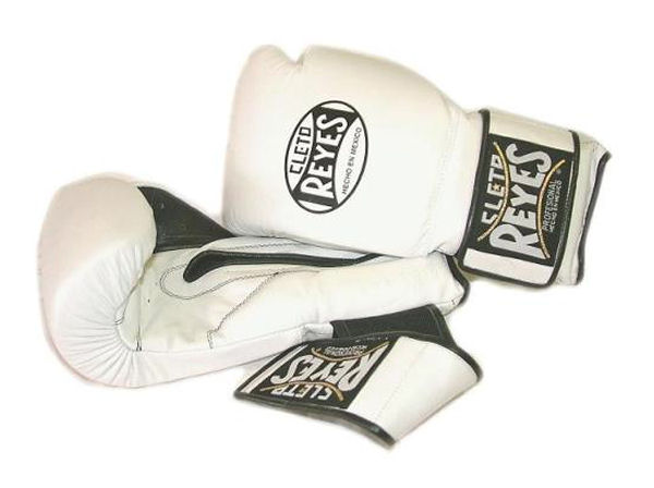 Cleto Reyes 12oz Velcro Pro Sparring Training Gloves White