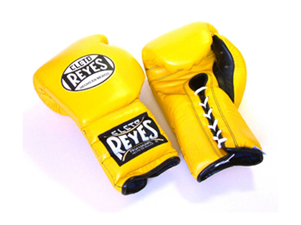 Cleto Reyes 12oz Lace Up Pro Sparring Training Gloves - Yellow
