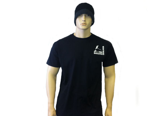 Boxing Corner Cotton T Shirt - Gym Casual - Black