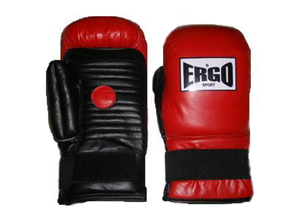 Ergo Boxing Pro Leather Coach Spar Gloves / Pads