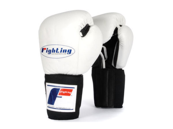 Fighting Sports Tri-Tech Elite Pro Sparring Gloves - White