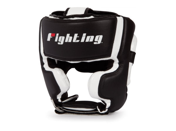 Fighting Sports S2 Gel Pro Full Training Head Guard Black White