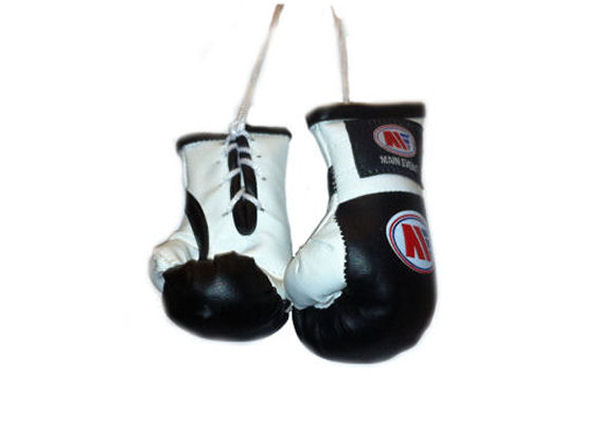 Main Event Mini Replica Hanging Boxing Gloves - Black