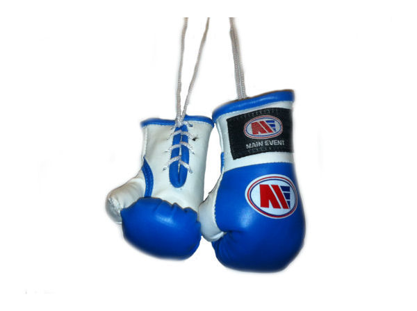 Main Event Mini Replica Hanging Boxing Gloves - Blue