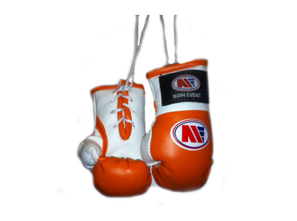 Main Event Mini Replica Hanging Boxing Gloves - Orange