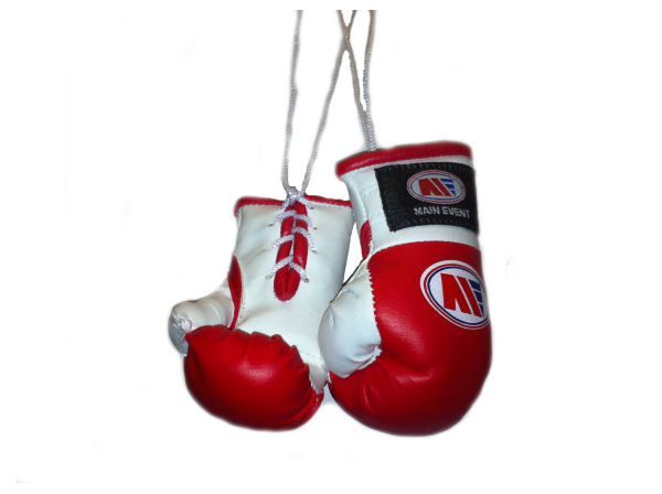 Main Event Mini Replica Hanging Boxing Gloves - Red