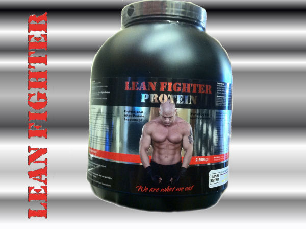 Lean Fighter Protein Large 2.25kg Tub Raspberry Ripple Flavour