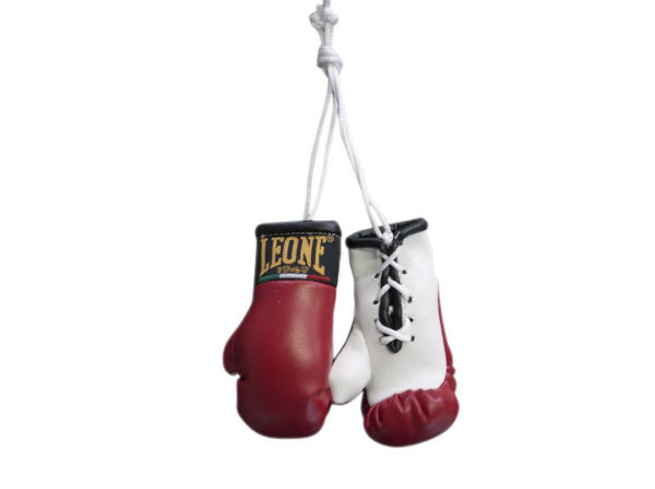 Leone 1947 Mini Replica Hanging Boxing Gloves - Red