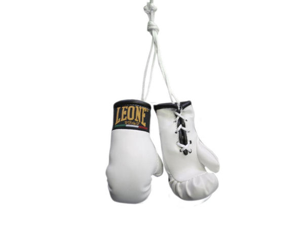 Leone 1947 Mini Replica Hanging Boxing Gloves - White