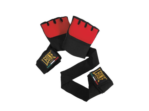 Leone 1947 Boxing Gel Under Gloves Hand Wraps - Black Red
