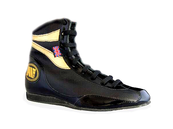 Main Event Alchemy Titanium Pro Elite Boxing Boots - Black Gold
