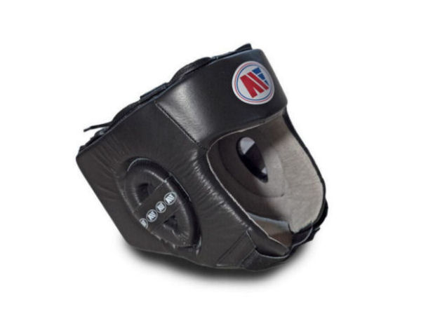 Main Event Boxing Childrens Leather Training Head Guard Black