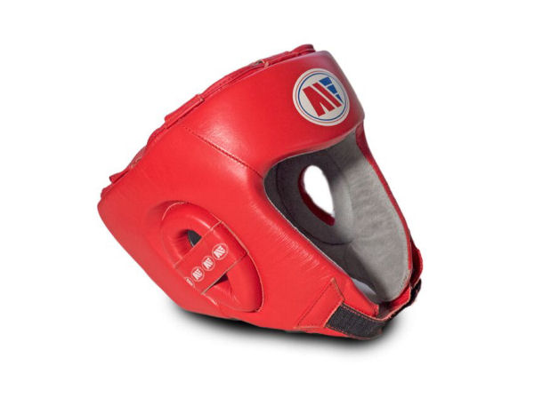 Main Event Boxing Childrens Leather Training Head Guard Red