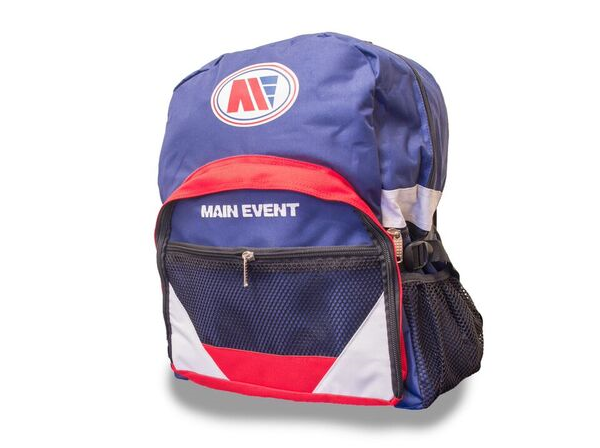 Main Event Boxing Sports Gear Kit Gym Bag Backpack Blue