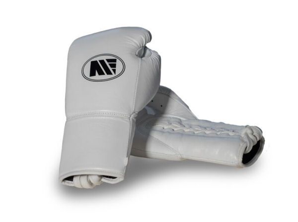 Main Event Official Pro Contest Boxing Fight Gloves - White