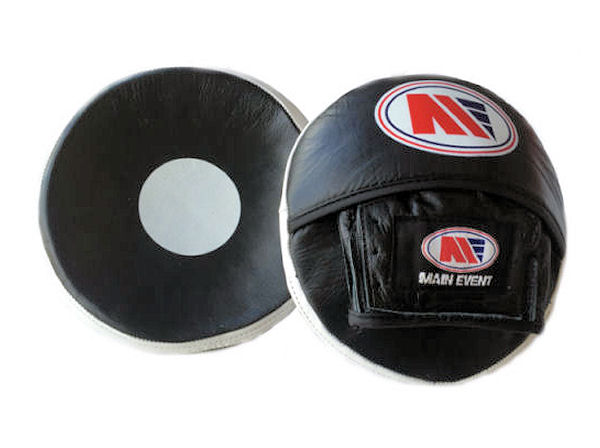 Main Event Leather Pro Reaction Scoop Punch Mitts Focus Pads