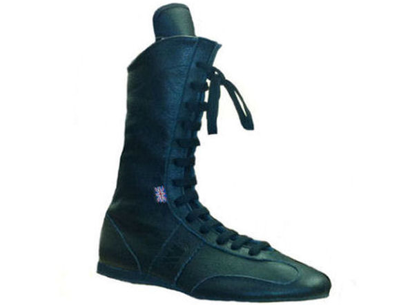 Main Event Pro Elite High Cut Leather Boxing Boots All Black
