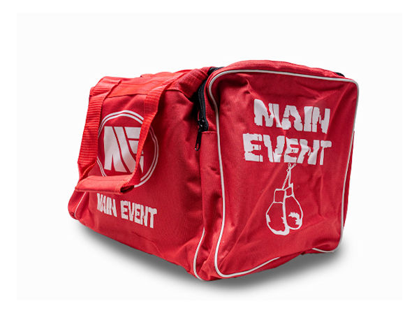 Main Event Boxing Junior Sports Gear Kit Gym Bag Holdall Red
