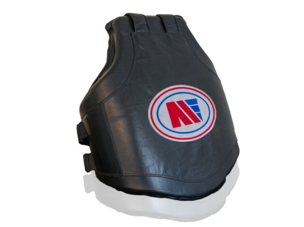 Main Event Boxing Pro Leather Contoured Gel Coach Body Protector