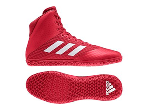 Adidas Mat Wizard 4 Boxing Wrestling Boots - Red White