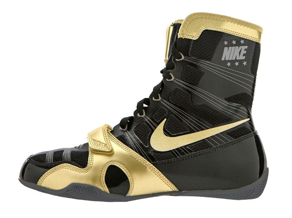 Nike MP Hyper KO Flywire Pacquiao Boxing Boots Black Met Gold