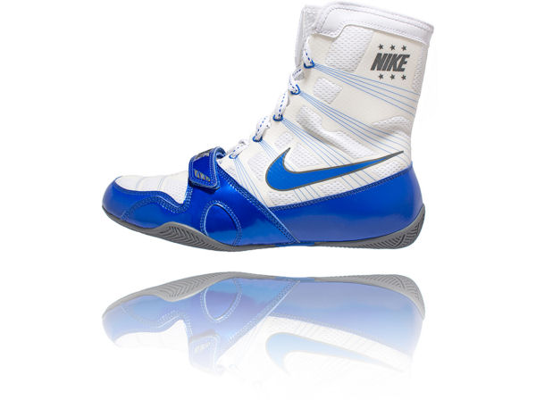 Nike MP Hyper KO Flywire Pacquiao Boxing Boots Blue and White