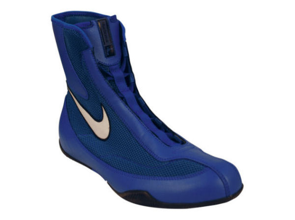 Nike Machomai Mid Oly Boxing Boots - Royal Blue and White