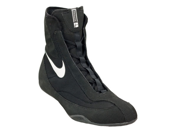 Nike Machomai Mid Oly Boxing Boots - Black and White