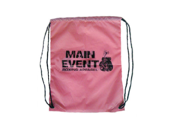 Main Event Boxing String Bag Gym Sack Pack P.E Bag - Pink