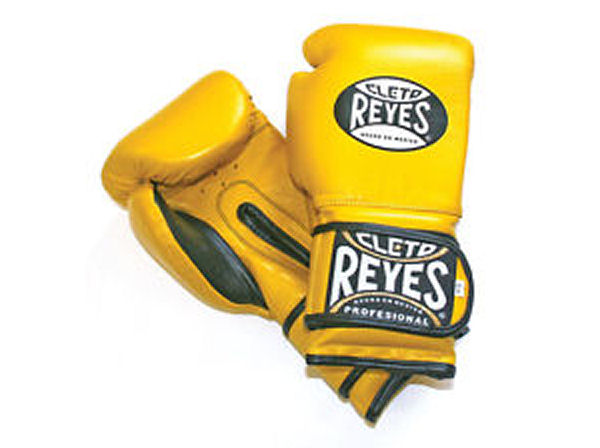 Cleto Reyes 16oz Velcro Pro Sparring Training Gloves - Yellow