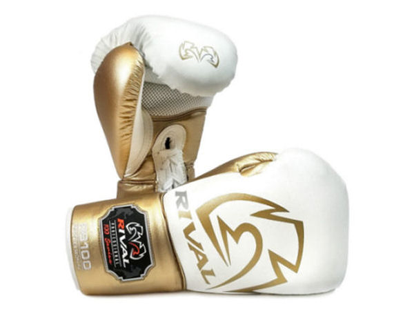 Rival Boxing RS100 Professional Sparring Gloves White Gold