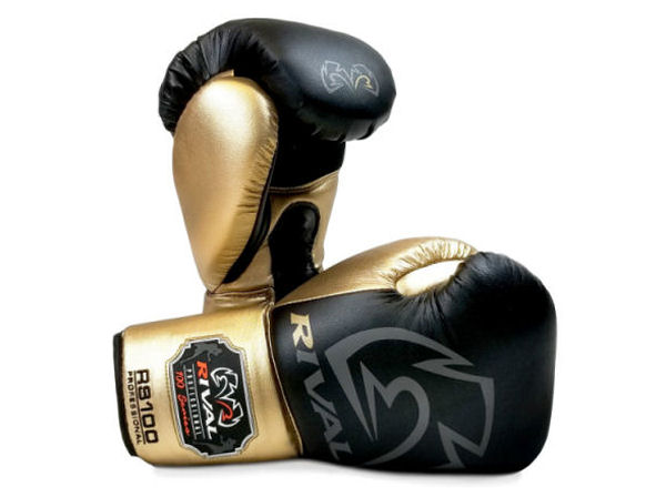 Rival Boxing RS100 Professional Sparring Gloves Black Gold