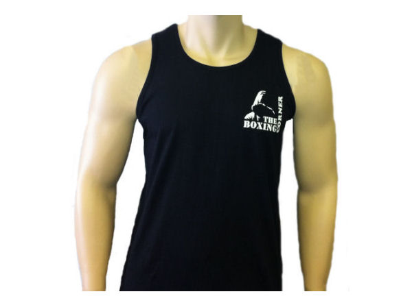 Boxing Corner Cotton Training Vest - Gym Casual - Black