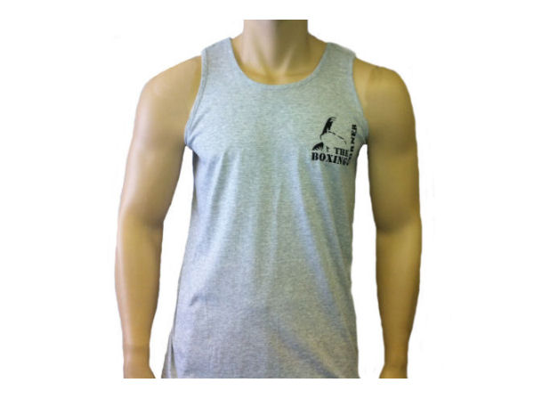 Boxing Corner Cotton Training Vest - Gym Casual - Grey