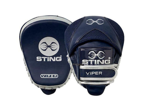 Sting Boxing Viper Speed Leather Gel Focus Pads Mitts Navy