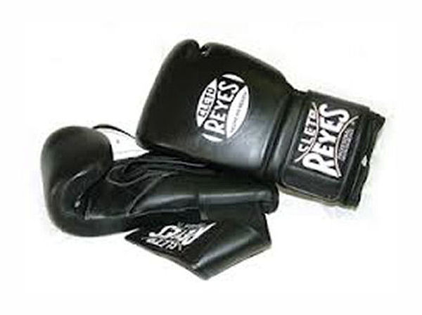Cleto Reyes 12oz Velcro Pro Sparring Training Gloves - Black