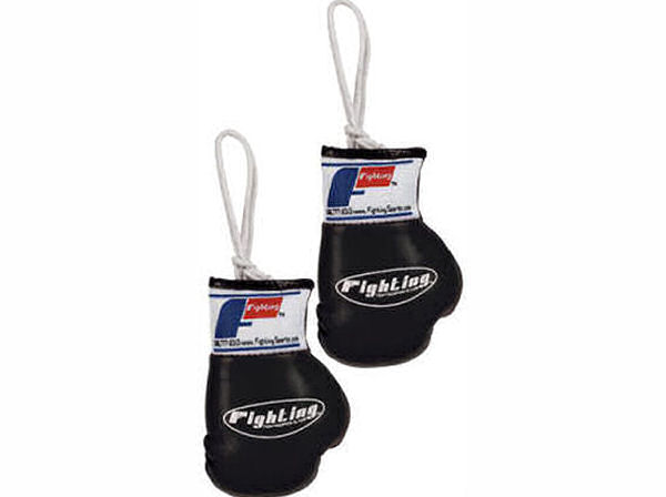 Fighting Sports Mini Replica Hanging Boxing Gloves - Black