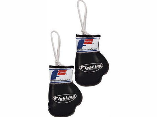 fighting sports mini replica hanging boxing gloves black. Black Bedroom Furniture Sets. Home Design Ideas
