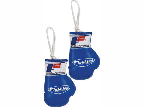 Fighting Sports Mini Replica Hanging Boxing Gloves - Blue